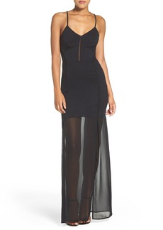French Connection 'Chantilly' Illusion Maxi Dress