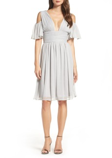 French Connection Chiffon Fit & Flare Dress