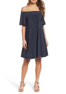 French Connection Chisulo Off the Shoulder Swing Dress
