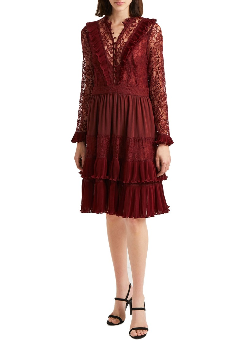 French Connection Clandre Lace Fit & Flare Dress