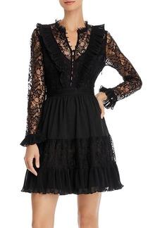FRENCH CONNECTION Clandre Vintage Lace-Detail Mini Dress