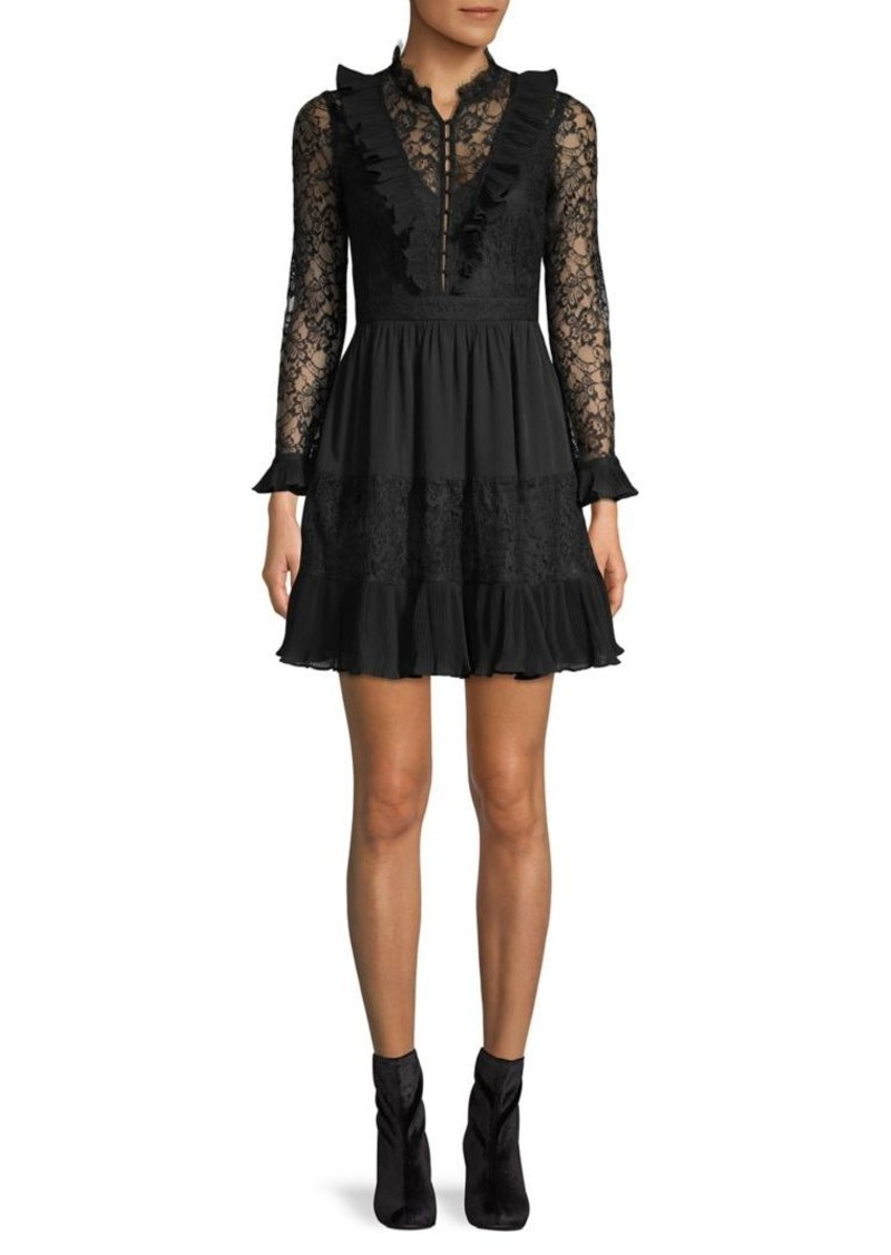 French Connection Clari Floral Lace Mini Dress