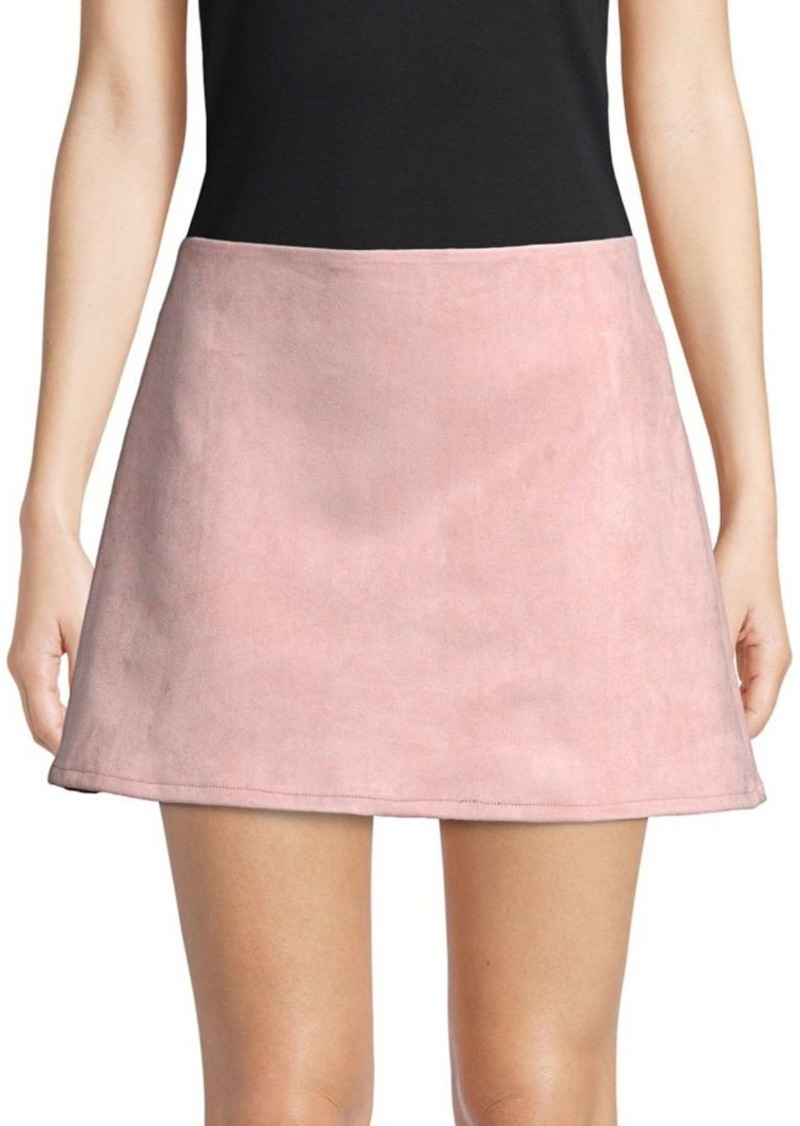 ee16f77692 SALE! French Connection French Connection Classic Faux Suede Mini Skirt