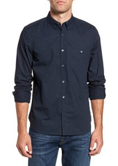 French Connection Classic Slim Fit Dot Print Cotton Sport Shirt