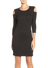 French Connection Cold Shoulder Sheath Sweater Dress
