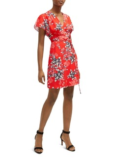 FRENCH CONNECTION Coletta Floral-Print Mini Wrap Dress