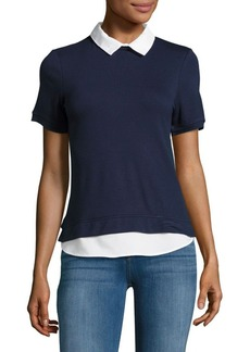 French Connection Collared Knit Top