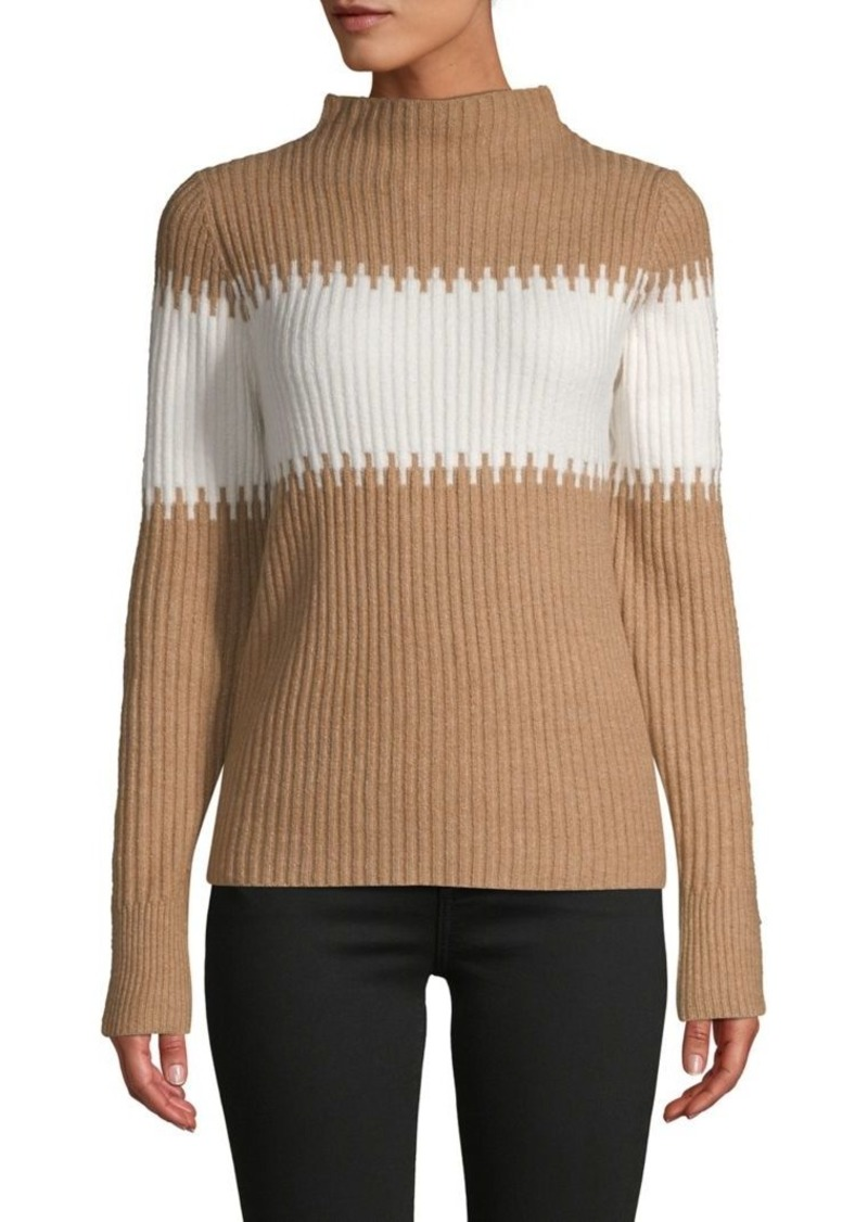 French Connection Colorblock Rib-Knit Sweater