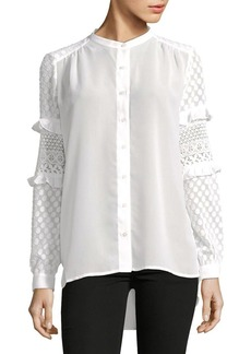 French Connection Comino Textured Sleeve Blouse
