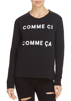 "FRENCH CONNECTION ""Comme Ci Comme �a"" Graphic Sweatshirt"