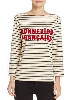 "FRENCH CONNECTION ""Connection Francaise"" Striped Tee"