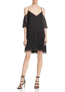 FRENCH CONNECTION Constance Cold Shoulder Drape Dress