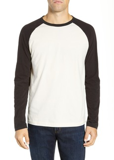 French Connection Contrast Sleeve Regular Fit Cotton T-Shirt