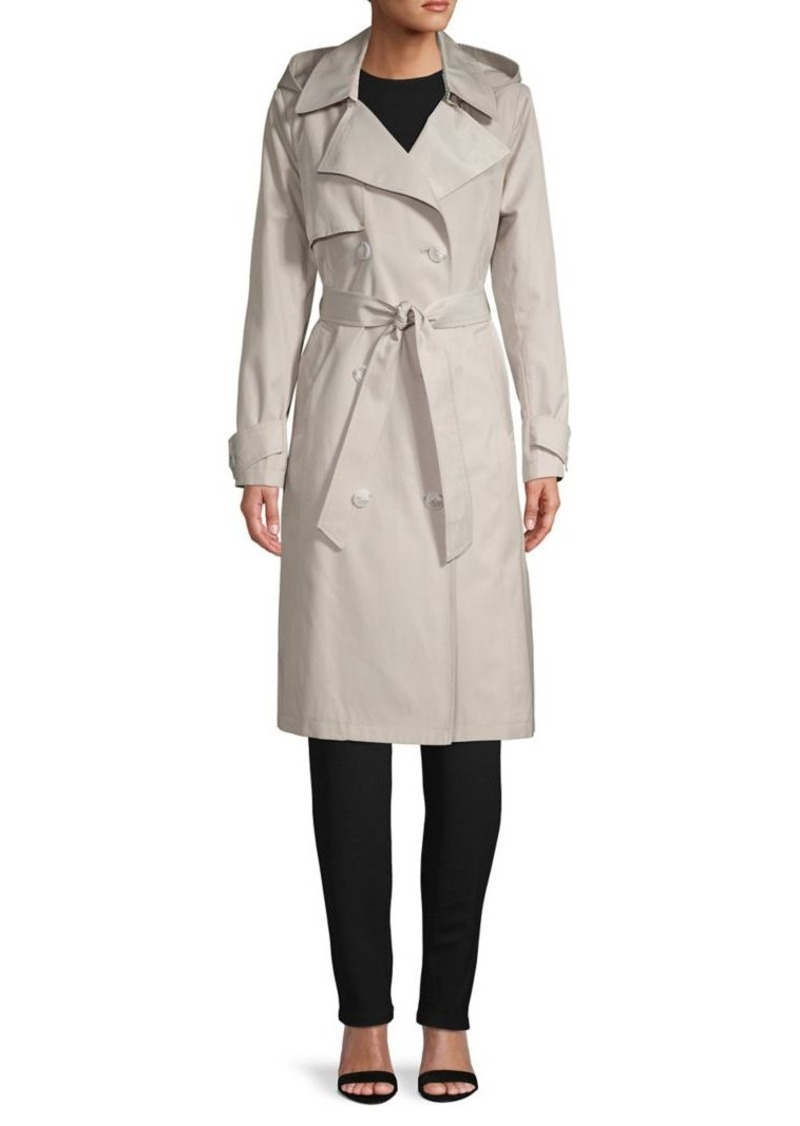 French Connection Cotton-Blend Trench Coat