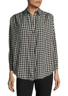 French Connection Cotton Gingham Top