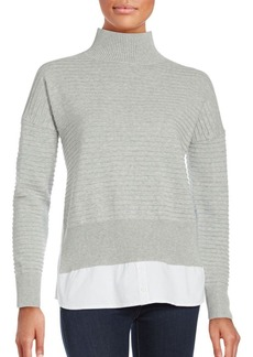 French Connection Cotton Long Sleeve Pullover