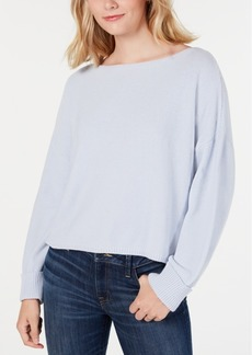 French Connection Cotton Oversized Boat-Neck Sweater