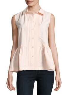 French Connection Cotton Peplum Top