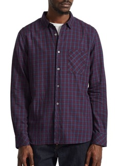 French Connection Cotton Plaid Casual Button-Down Shirt