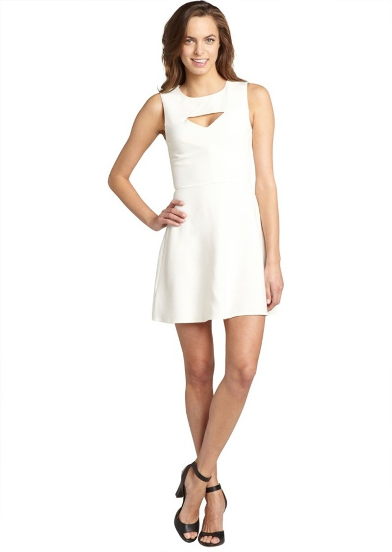 French Connection cream cutout neckline 'Fast Feat...