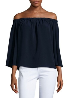 French Connection Crepe Light Off-the-Shoulder Top