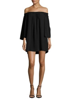 French Connection Crepe Off-the-Shoulder Dress