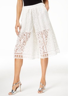 French Connection Cropped Lace Pants