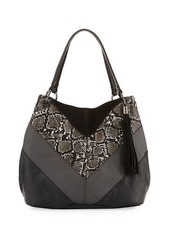 French Connection Cruze Snake-Print Tote Bag