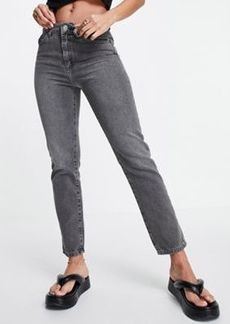 French Connection cut off jean in gray wash