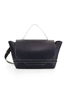 French Connection Cynthia Faux-Leather Satchel Bag