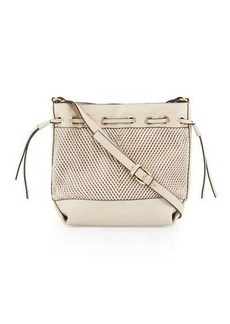 French Connection Dallas Woven Drawstring Bucket Bag