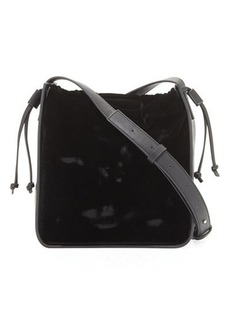 French Connection Dane Velvet Crossbody Bag