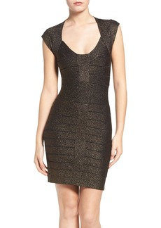 French Connection Danni Metallic Bandage Dress