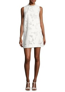 French Connection Deka Lace Embroidered Mini Dress