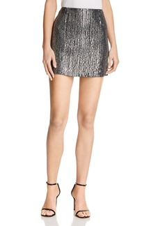 FRENCH CONNECTION Desiree Disco Sequined Mini Skirt