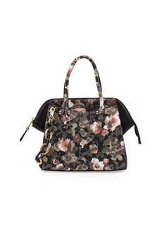 French Connection Devin Floral Camouflage Satchel Bag