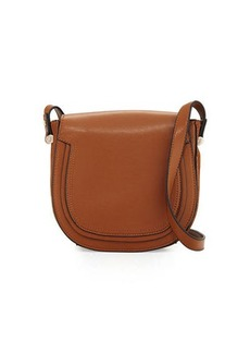 French Connection Devin Suede-Trim Saddle Bag