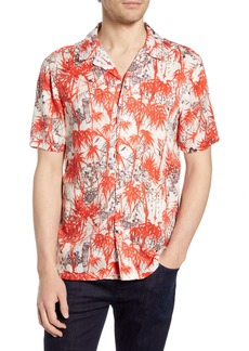 French Connection Dione Short Sleeve Button-Up Camp Shirt
