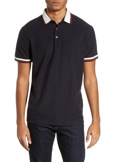 French Connection Dobby Jersey Slim Fit Polo