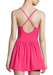 French Connection Double Layered Sleeveless Skirted Short Jumpsuit