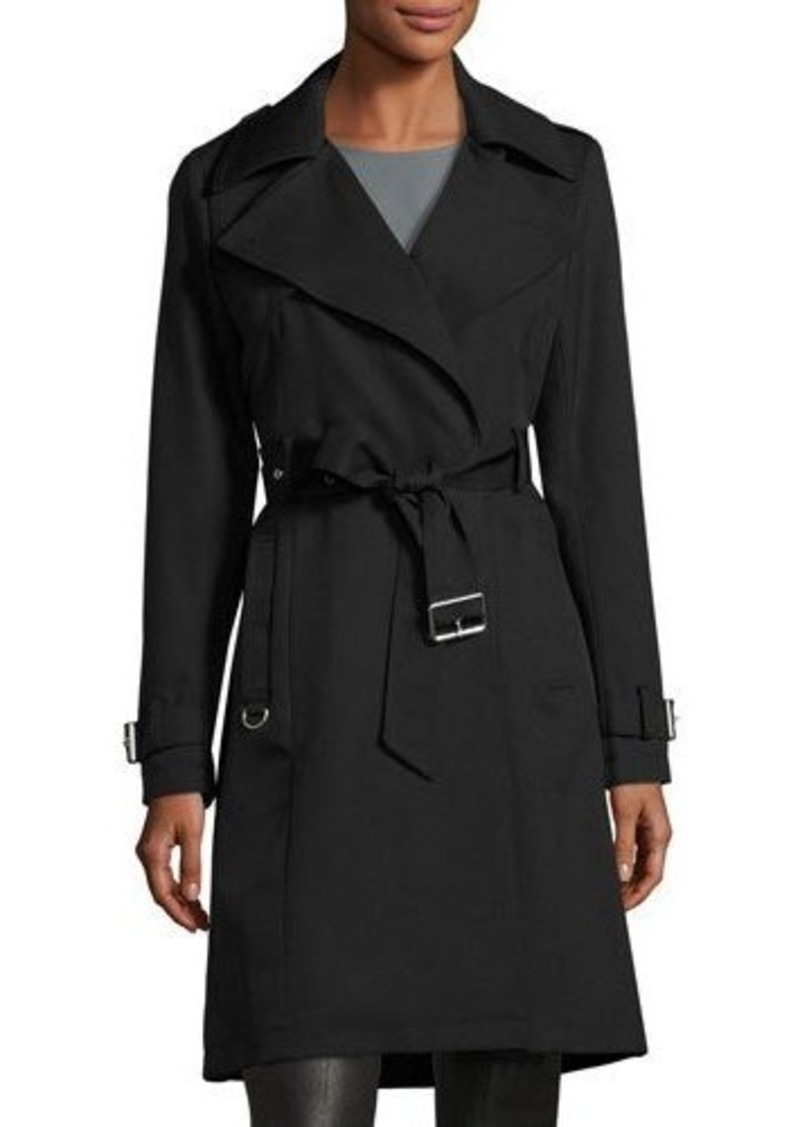 French Connection Draped Belted Trench Coat