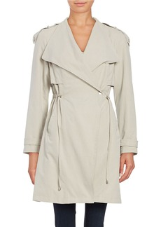 FRENCH CONNECTION Drawstring Trenchcoat