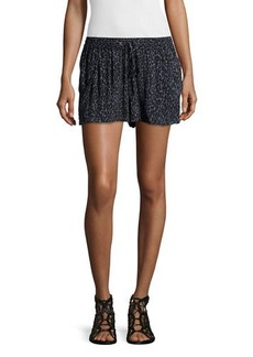French Connection Drawstring-Waist Pleated-Front Shorts