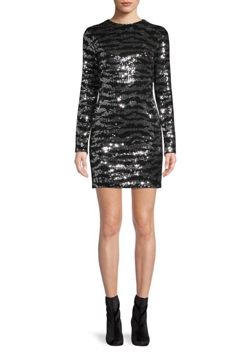 French Connection Ebba Tiger Sequin Mini Dress