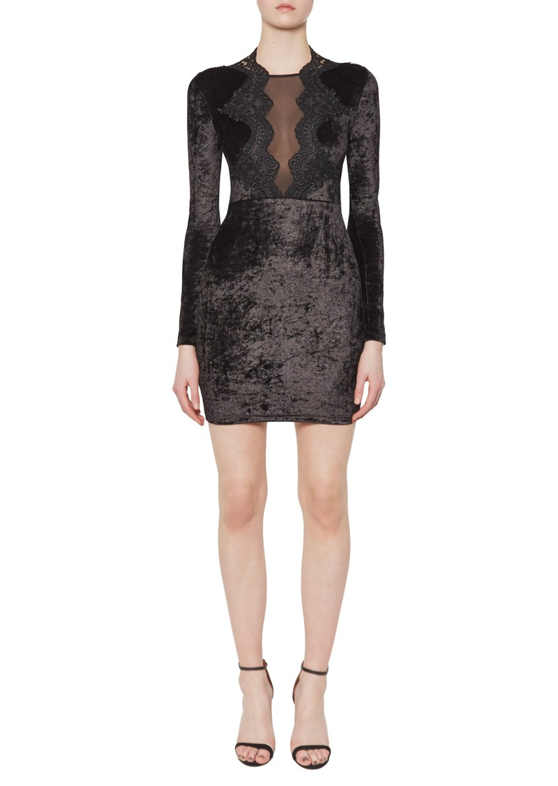 French Connection Eddie Velvet Minidress