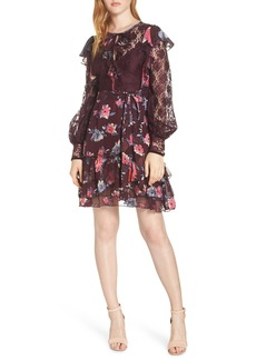 French Connection Edith Lace & Ruffle Floral Dress