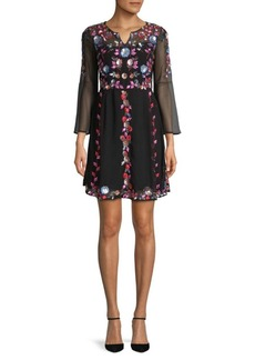 Edith Sequin and Embroidery Dress