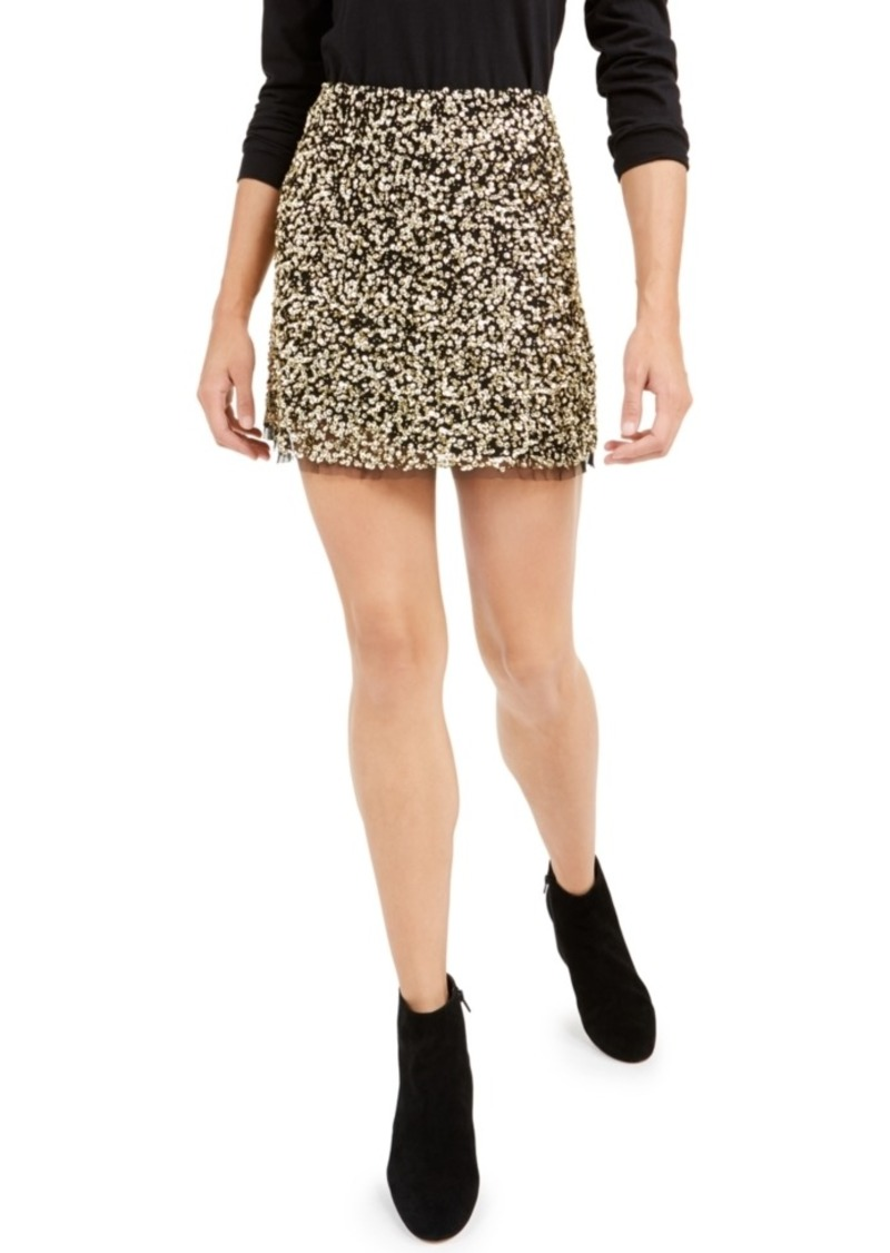 French Connection Eero Sequined Mini Skirt