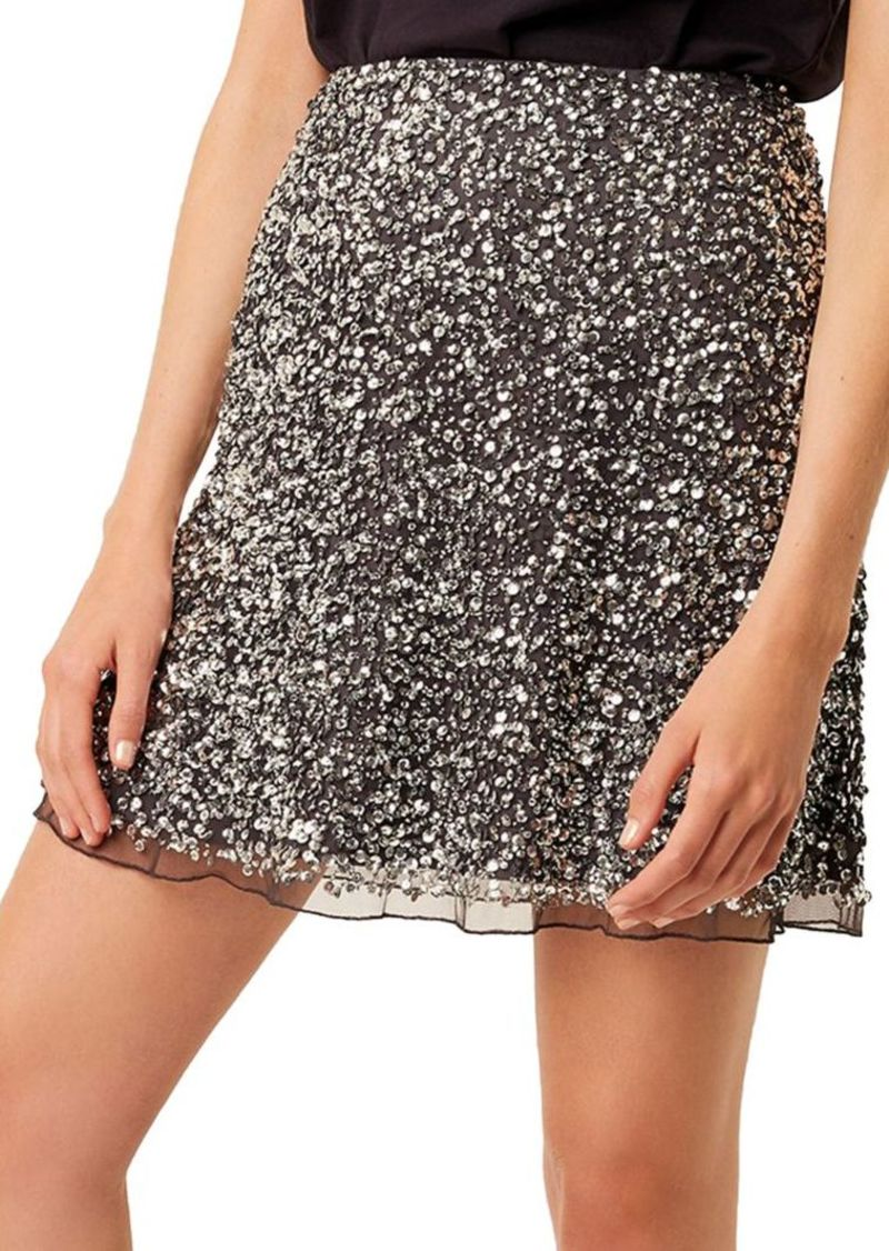 French Connection Eero Sequined Skirt