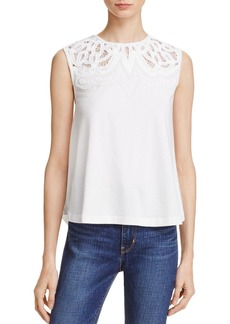 FRENCH CONNECTION Ekon Embellished Jersey Top